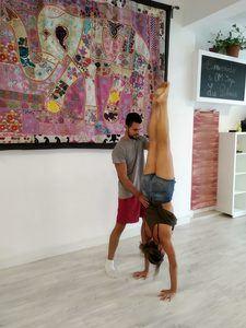 Taller verticales yoga Las Palmas
